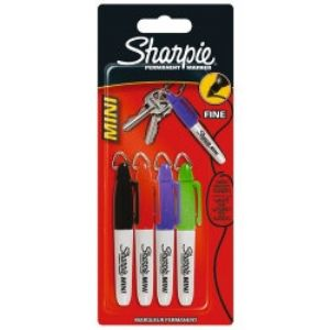 Sharpie Permanent Retractable Mini Markers - Assorted 4/pk