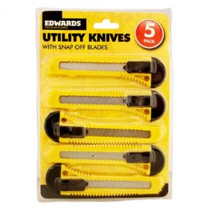 Stanley Knives Full 5 Piece Set Ideal For Opening Boxes etc