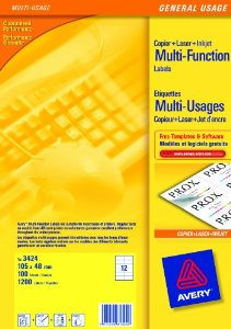 Avery Multifunction and Copier Labels 105 x 71mm 8 Labels Per Sheet Packs of 100 Sheets