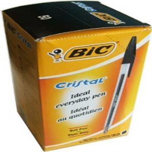 BiC Cristal Medium 0.5mm ballpoint pen - Black, pk 50