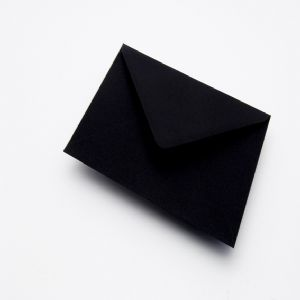 Black Gummed Greeting Card Envelopes 100gsm 114x162mm