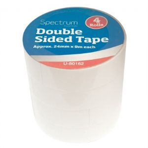 Double Sided Tape - 4 Pack (24mm x 8m)