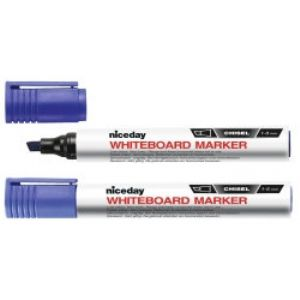 Niceday Whiteboard Markers Chisel Tip 1.3mm Black Pack of 12