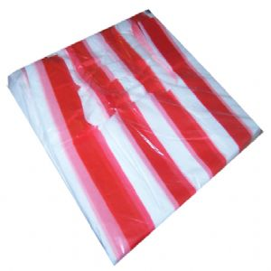 Red/White Candy Stripe Vest Carrier Bags Small 12x18x24