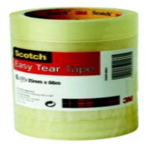 Scotch Easy Tear Clear Tape Large Core 25mm x 66m