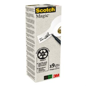 Scotch Magic Tape 19mm x 33m - pack of 9 Rolls