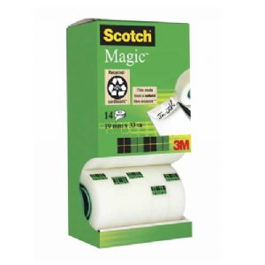 Scotch Magic Tape 19mm x 33m - Packs of 14 Rolls