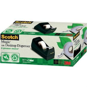 Scotch Magic Tape 19mm x 33m Roll with Black Dispenser **SPECIAL OFFER**